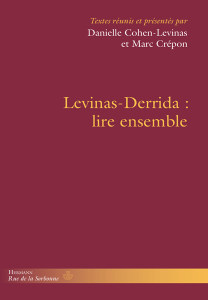 Levinas-Derrida: lire ensemble Book Cover