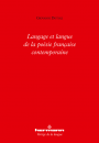 Langage et langue de la poésie française contemporaine