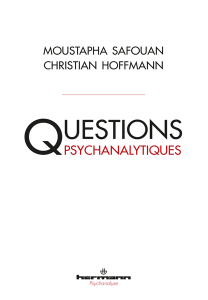 Questions psychanalytiques
