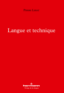 Langue et technique
