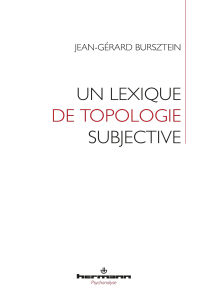 Un lexique de topologie subjective