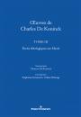 ŒuvreS de Charles De Koninck